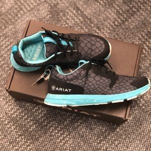 Ariat | Ladies teal blue, black, gray tennis shoe